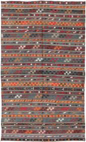 Chilim Turcia Covor 180X303 Orientale Lucrate De Mână Roșu-Închis/Gri Închis (Lână, Turcia)