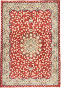 Najafabad Patina Covor 266X382 Orientale Lucrat Manual Ruginiu/Bej Mare (Lână, Persia/Iran)