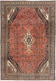 Hamadan Shahrbaf Patina Covor 233X334 Orientale Lucrat Manual Roșu-Închis/Gri Închis (Lână, Persia/Iran)