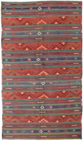 Chilim Turcia Covor 170X296 Orientale Lucrate De Mână Roșu-Închis/Verde Închis (Lână, Turcia)