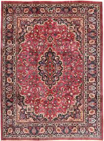 Mashhad Covor 243X324 Orientale Lucrat Manual Maro Închis/Roșu-Închis (Lână, Persia/Iran)