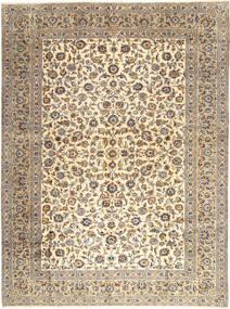 Kashan Covor 303X407 Orientale Lucrat Manual Gri Deschis/Bej Mare (Lână, Persia/Iran)