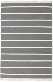 Dorri Stripe - Gri Covor 140X200 Modern Lucrate De Mână Gri Închis/Bej (Lână, India)