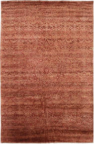Damask Covor 193X300 Modern Lucrat Manual Roşu/Roșu-Închis ( India)