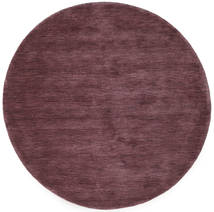 Handloom - Deep Wine Covor Ø 150 Modern Rotund Mov Închis/Maro Închis (Lână, India)