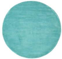 Handloom - Aqua Covor Ø 150 Modern Rotund Întuneric Turquoise/Albastru Turcoaz (Lână, India)