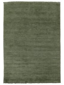 Handloom Fringes - Verde Pădure Covor 160X230 Modern Verde Închis/Verde Închis (Lână, India)