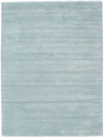 Handloom Fringes - Ice Blue Covor 160X230 Modern Albastru Deschis (Lână, India)
