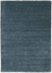 Handloom Fringes - Deep Petrol Covor 140X200 Modern Albastru/Albastru Închis (Lână, India)