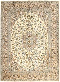 Kashan Covor 300X400 Orientale Lucrat Manual Bej Închis/Bej Mare (Lână, Persia/Iran)