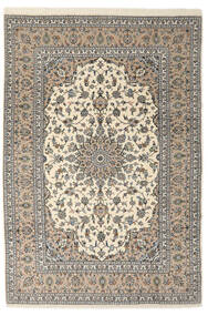 Kashan Sherkat Farsh Covor 205X300 Orientale Lucrat Manual Gri Deschis/Bej/Bej Închis (Lână, Persia/Iran)
