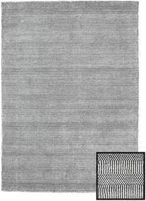 Bamboo Grass - Black_ Gri Covor 140X200 Modern Gri Deschis/Gri Închis (Lână/Bambus Mătase, Turcia)