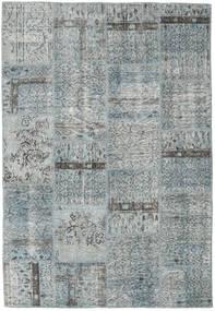 Patchwork Covor 158X229 Modern Lucrat Manual Gri Deschis/Albastru Deschis (Lână, Turcia)