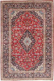 Kashan Covor 203X302 Orientale Lucrat Manual Roșu-Închis/Maro Închis (Lână, Persia/Iran)