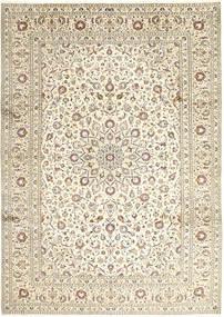 Kashan Covor 248X346 Orientale Lucrat Manual Gri Deschis/Bej/Bej Închis (Lână, Persia/Iran)