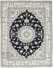 Nain Covor 193X250 Orientale Lucrat Manual Gri Deschis/Bej (Lână, Persia/Iran)