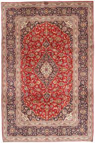 Kashan Covor 200X298 Orientale Lucrat Manual Ruginiu/Roșu-Închis/Maro Închis (Lână, Persia/Iran)