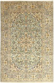Kashan Covor 242X366 Orientale Lucrat Manual Bej Închis/Gri Închis (Lână, Persia/Iran)