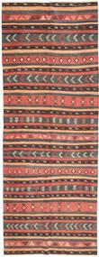 Chilim Covor 152X403 Orientale Lucrate De Mână Maro Deschis/Gri Închis (Lână, Persia/Iran)