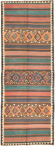 Chilim Fars Covor 145X388 Orientale Lucrate De Mână Gri Închis/Roz Deschis (Lână, Persia/Iran)