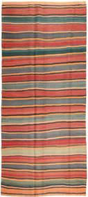 Chilim Fars Covor 168X380 Orientale Lucrate De Mână Gri Închis/Ruginiu (Lână, Persia/Iran)