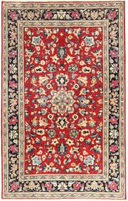 Yazd Covor 193X305 Orientale Lucrat Manual Gri Închis/Roșu-Închis (Lână, Persia/Iran)