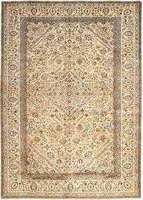 Kashan Covor 296X410 Orientale Lucrat Manual Bej/Bej Închis Mare (Lână, Persia/Iran)