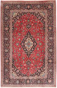 Kashan Covor 194X300 Orientale Lucrat Manual Roșu-Închis/Ruginiu (Lână, Persia/Iran)