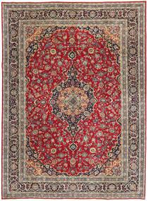 Kashan Patina Covor 247X337 Orientale Lucrat Manual Roșu-Închis/Roşu (Lână, Persia/Iran)