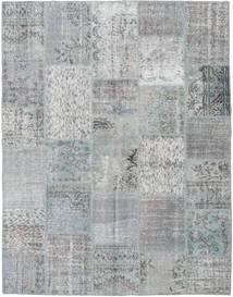 Patchwork Covor 196X251 Modern Lucrat Manual Gri Deschis/Albastru Turcoaz (Lână, Turcia)