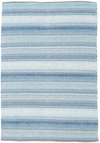Wilma - Albastru Covor 120X180 Modern Lucrate De Mână Albastru Deschis/Bej (Bumbac, India)