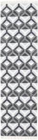 Aino Covor 80X300 Modern Lucrate De Mână Bej-Crem/Albastru Deschis/Violet Deschis (Lână/Bambus Mătase, India)