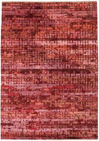 Damask Indo Covor 173X245 Modern Lucrat Manual Roșu-Închis/Ruginiu ( India)