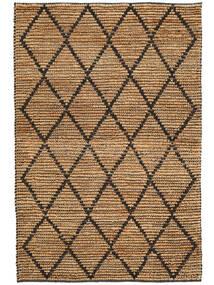 Covor Exterior Serena Jute - Natural/Negru Covor 120X180 Modern Lucrate De Mână Gri Deschis/Bej (Covor De Iută India)
