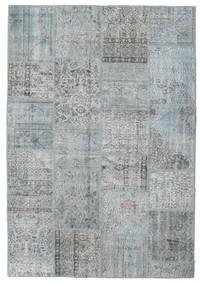 Patchwork Covor 159X232 Modern Lucrat Manual Gri Deschis (Lână, Turcia)