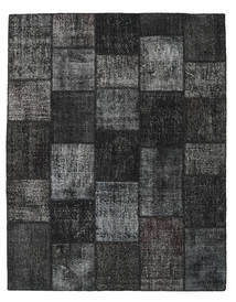 Patchwork Covor 197X251 Modern Lucrat Manual Negru/Gri Închis (Lână, Turcia)