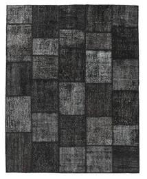 Patchwork Covor 198X249 Modern Lucrat Manual Negru/Gri Închis (Lână, Turcia)