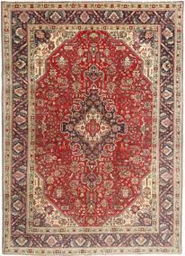 Tabriz Covor 200X282 Orientale Lucrat Manual Maro Închis/Roșu-Închis (Lână, Persia/Iran)