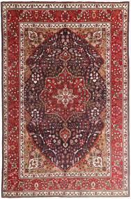 Tabriz Covor 207X315 Orientale Lucrat Manual Roșu-Închis/Maro Închis (Lână, Persia/Iran)