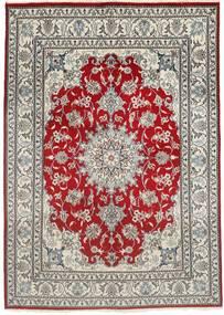 Nain Covor 150X207 Orientale Lucrat Manual Gri Deschis/Roșu-Închis (Lână, Persia/Iran)