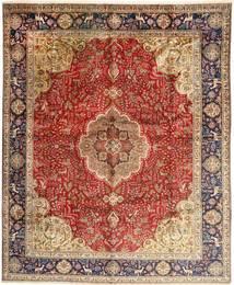 Tabriz Covor 308X380 Orientale Lucrat Manual Maro Închis/Roșu-Închis Mare (Lână, Persia/Iran)