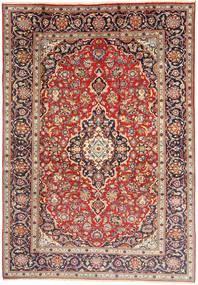 Kashan Covor 198X292 Orientale Lucrat Manual Maro Deschis/Bej (Lână, Persia/Iran)