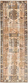Colored Vintage Covor 105X320 Modern Lucrat Manual Maro/Bej (Lână, Persia/Iran)