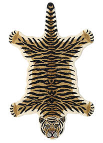 Tiger - Bej Covor 100X160 Modern Albastru Închis/Bej (Lână, India)
