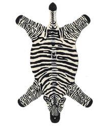 Zebra Covor 100X155 Modern Negru/Bej (Lână, India)