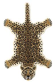 Leopard - Bej Covor 100X160 Modern Bej/Negru (Lână, India)