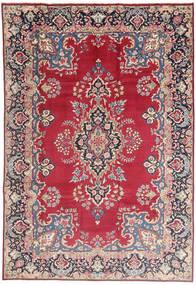 Kerman Covor 198X295 Orientale Lucrat Manual Gri Deschis/Roşu (Lână, Persia/Iran)