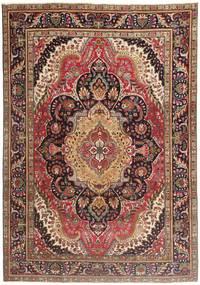 Tabriz Patina Covor 210X297 Orientale Lucrat Manual Roșu-Închis/Maro Închis/Maro (Lână, Persia/Iran)