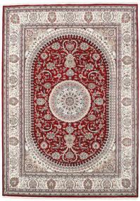 Nain Indo Covor 253X357 Orientale Lucrat Manual Gri Deschis/Roșu-Închis Mare ( India)