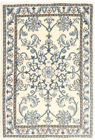 Nain Covor 60X90 Orientale Lucrat Manual Bej/Gri Deschis (Lână, Persia/Iran)